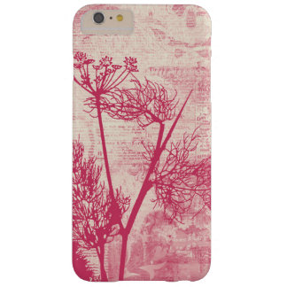 Pretty Botanical Pink Dandelion Seed Silhouette Barely There iPhone 6 Plus Case