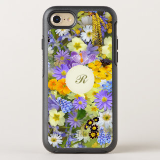 Pretty Botanical Wildflowers Monogrammed OtterBox Symmetry iPhone 8/7 Case