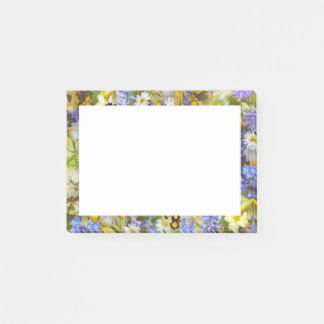 Pretty Botanical Wildflowers Print Post-it Notes