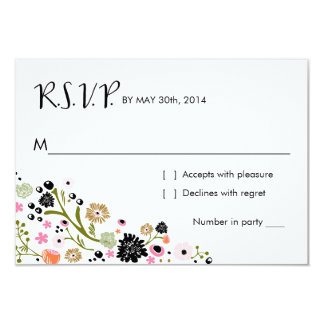 Pretty Bouquet Floral | R S V P Reply Card Invite