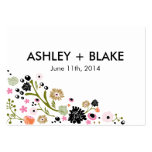 Pretty Bouquet Floral Wedding Favour Card