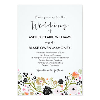 Pretty Bouquet Floral Wedding Invitation
