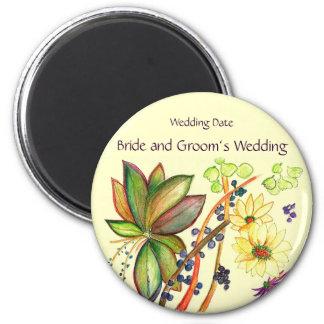 Pretty Bouquet Wedding Souvenir Magnet Magnets