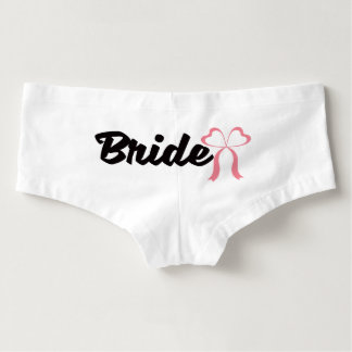Pretty bow bride wedding day underwear hot shorts