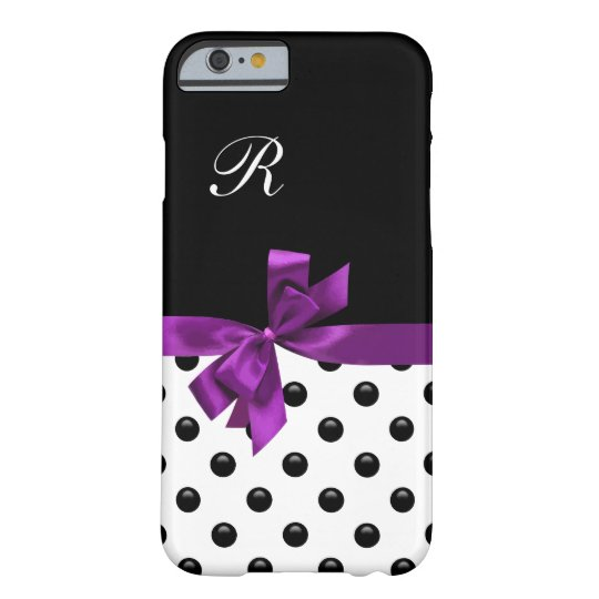 Pretty Bow Girly Monogram Barely There iPhone 6
