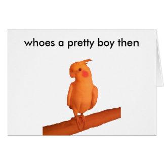 pretty boy greeting card
