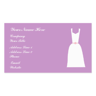 Pretty Bridal Gown Lilac Business Cards