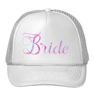 Pretty Bride Pink Streaked Paint Look Cap