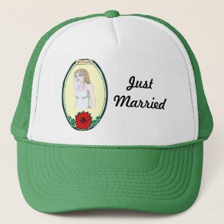 Pretty bride trucker hat
