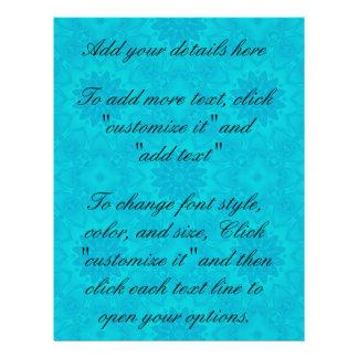 Pretty bright aqua blue kaleidoscope flyer