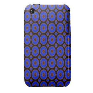 Pretty Bright blue pattern iPhone 3 Cover