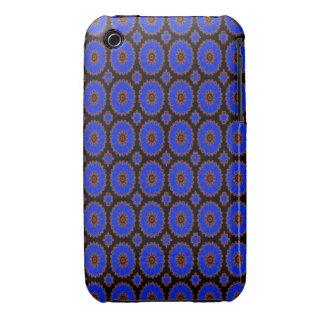 Pretty Bright blue pattern iPhone 3 Cover