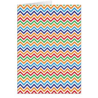 Pretty Bright Colorful Zig Zag Chevron Stripes Greeting Card
