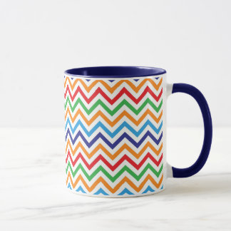 Pretty Bright Colorful Zig Zag Chevron Stripes Mug