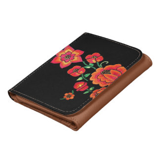 Pretty Bright Pink Flowers Wallet
