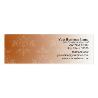 Pretty Brown and White Damask Business Card Templates