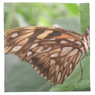 Pretty Brown Butterfly Napkin