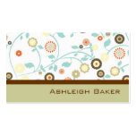 Pretty Brown Floral Mummy Calling Card Business Card Template