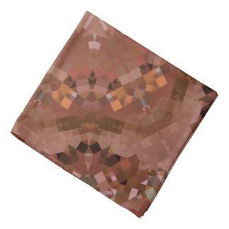 Pretty Brown Kaleidoscope Bandana