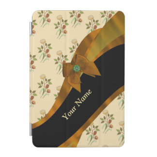 Pretty brown vintage floral flower pattern iPad mini cover