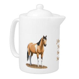 Pretty Buckskin Paint Horse