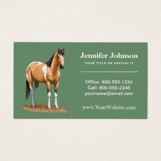 Pretty Buckskin Paint Horse Business Card