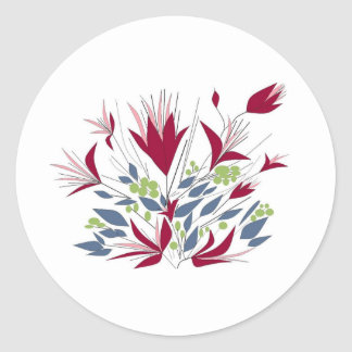 Pretty Bunch Of flowers Classic Round Sticker