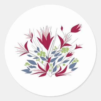 Pretty Bunch Of flowers Round Sticker