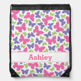 Pretty Butterflies Girl's Drawstring Backpack