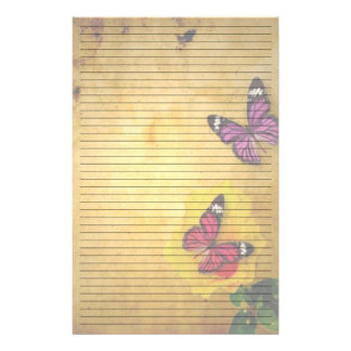 Pretty Butterflies Lined Stationery Paper
