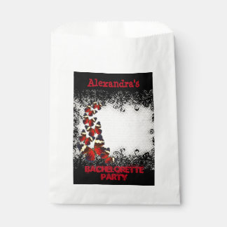 Pretty butterfly black lace bachelorette party favour bags