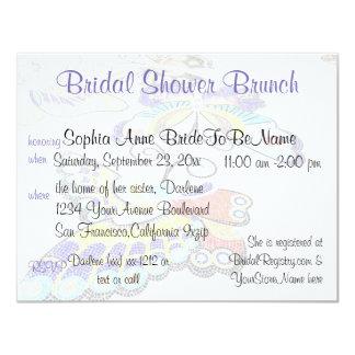 Pretty Butterfly Bridal Shower Brunch Card