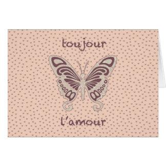 Pretty Butterfly Love Heart Pattern Greeting Card