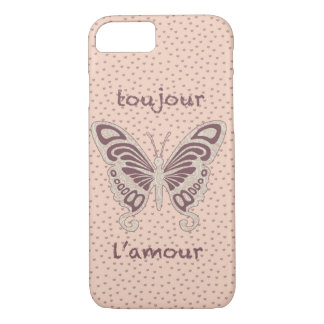 Pretty Butterfly Loveheart Pattern iPhone 7 Case