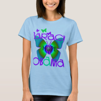 Pretty Butterfly Support Barack Obama T-shirt