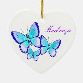 Pretty Butterfly Trio Christmas Ornament