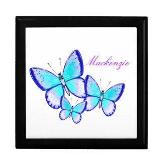 Pretty Butterfly Trio Large Square Gift Box