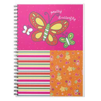 pretty butterfy notebooks