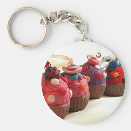 Pretty Cakes Basic Round Button Key Ring