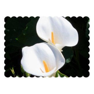 Pretty Calla Lilies Personalized Announcements