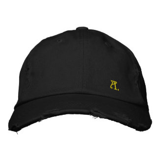 """Pretty Cap in Consumed Sarja Embroidered Letter """"K Baseball Cap"""
