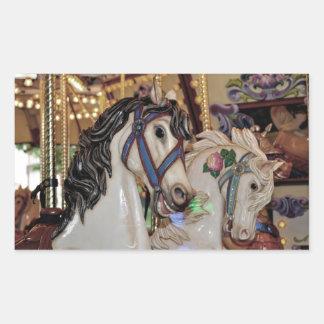 Pretty carousel horses sticker