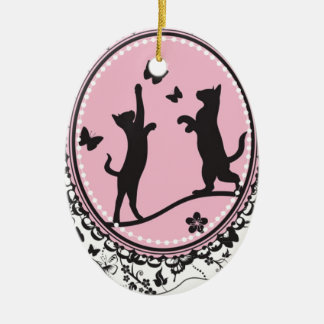 Pretty Cat Christmas Ornament