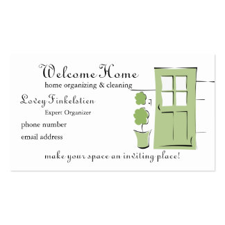 Pretty Celery Green Door Double-Sided Standard Business Cards (Pack Of 100)