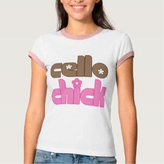 Pretty Cello Chick T-shirt
