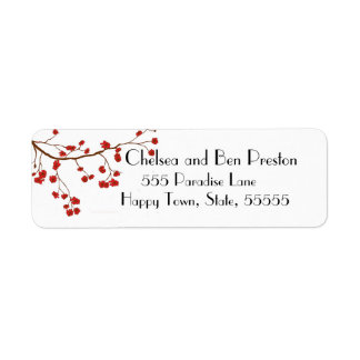 Pretty Cherry Blossom Flowers Return Address Label