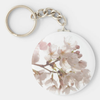 Pretty Cherry Blossoms Basic Round Button Key Ring