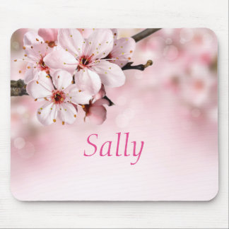 Pretty Cherry Blossoms Personalized Mouse Mat