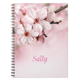 Pretty Cherry Blossoms Personalized Notebook