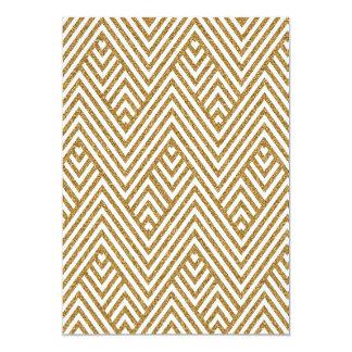 Pretty chevron zigzag diamond shapes pattern 13 cm x 18 cm invitation card